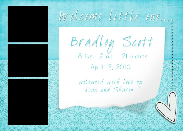 free photoshop baby announcement template