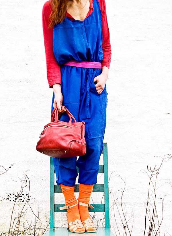 Psynopsis Vintage Katherine Hamnett Silk Overall Chloe Sandals Topshop T-Shirt Costume National Bag