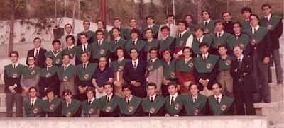Primera promoción del Colegio Los Olmos al terminar COU en 1982