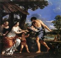 Faustulo dando cobijo a Romulo y Remo