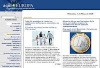 Aqui Europa y la Primera Promoción del colegio Los Olmos