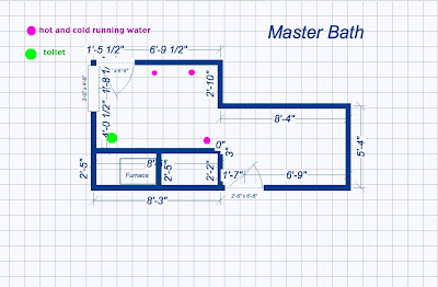 How hard could it be master bathroom design dilemma for Bathroom design 6x7