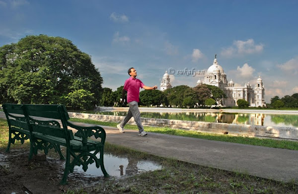 A New Day Begins, Victoria Memorial Kolkata by Sukalyan Chakraborty