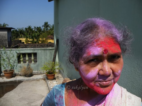 Holi Indian festival of colors - portrait photography by Sukalyan Chakraborty