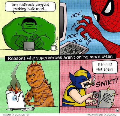 Por qué los superhéroes no están online más a menudo