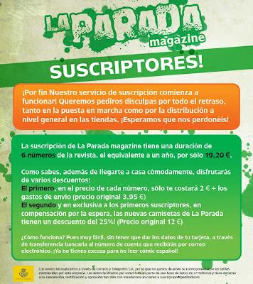 La Parada Magazine Servicio de Suscripción