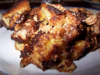 Pandoro Chocolate Bread And Butter Pudding