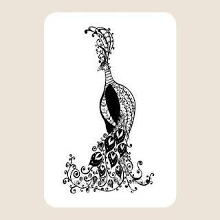 Postcard Set - The Elegant Peacock