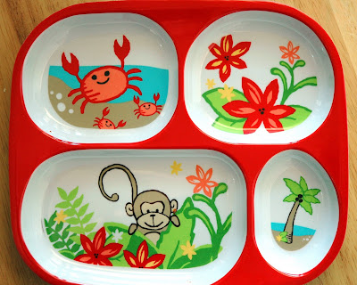 My daughter likes that her foods are separate\u2013she tells me where she would like each food. (But that doesn\u0027t mean she eats it.) & For The Kids: Melamine Divided Plates | Cafe Johnsonia