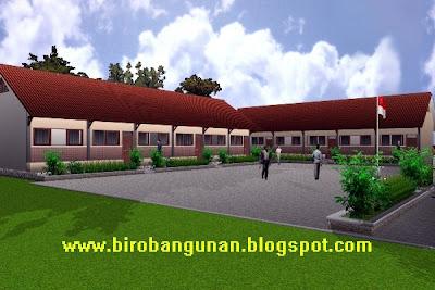 Sekolah dasar make over tilan bangunan sekolah bergaya tropis