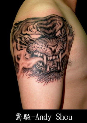 crouching tiger tatoo design