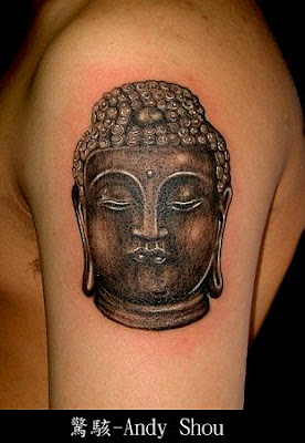 buddha tattoo thinking