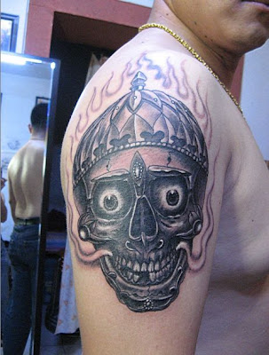 A kinda cute skull tattoo with big eyes. Posted by sexy body tattoos at 8:13