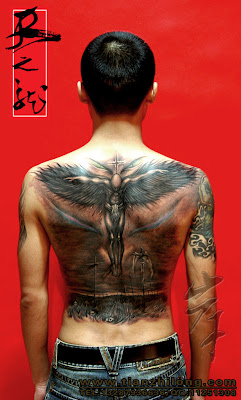 free tattoo design, back tattoo design
