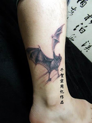 bat wing tattoos. Bat tattoo design