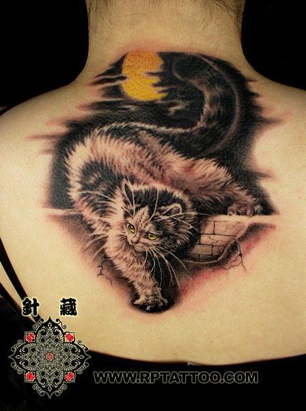 Cat+tattoo+designjpg