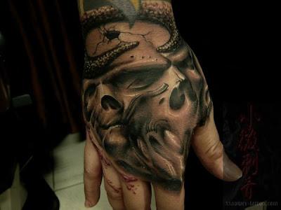 skull tattoos for men. pictures Aztec Skull Tattoos