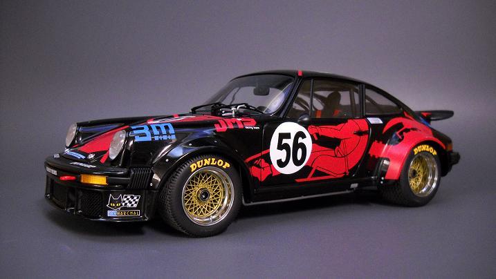 Porsche Turbo 924 1977 azul plata 1:43 Spark museo