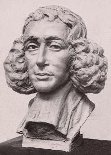 Kleisculptuur van Spinoza door Rudolf Saudek