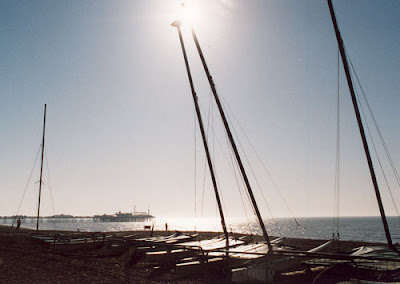 Image of sailing boats on Brighton seafront, UK