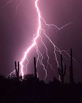 Image of monsoon with lightning