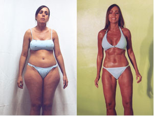 Body Weight Loss Before and After