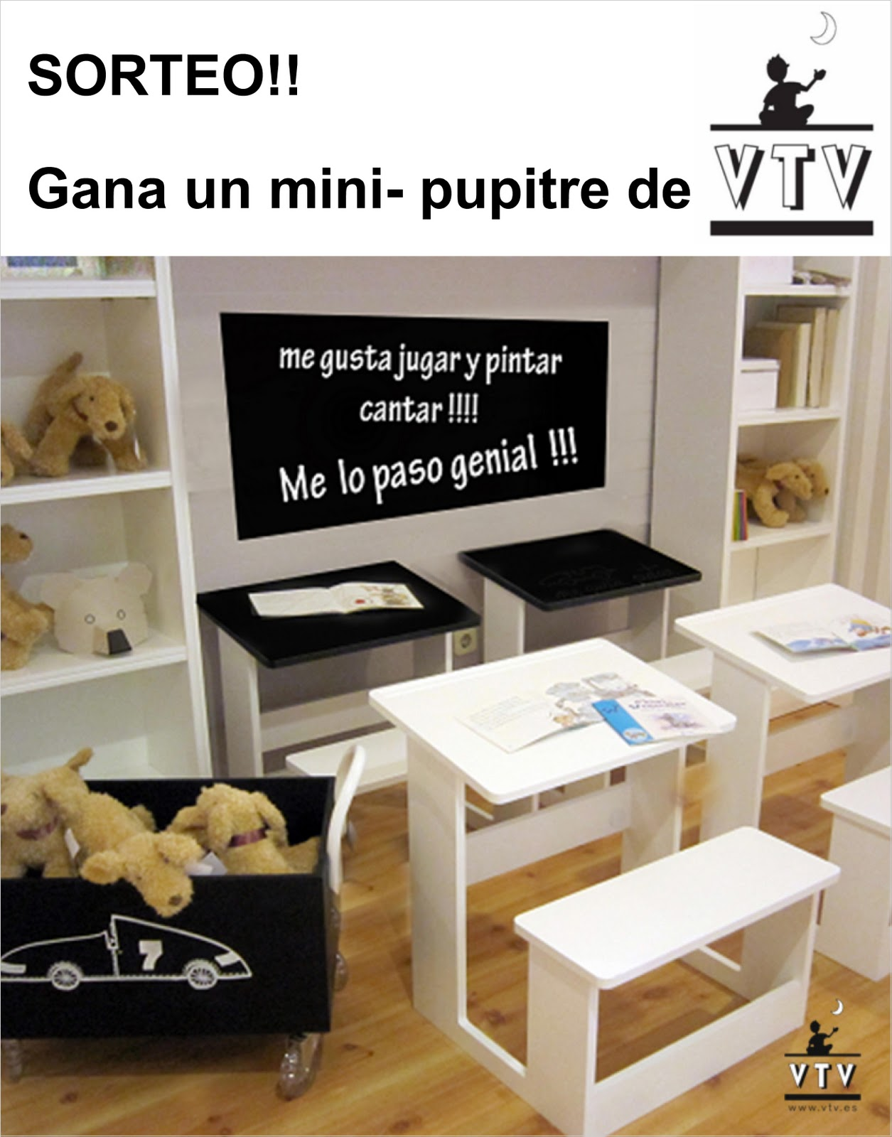 Gana un mini pupitre en vtv fatidica gala deco miscelanea - Pupitre infantil madera ...
