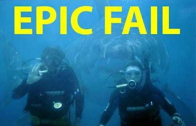 divers epic fail