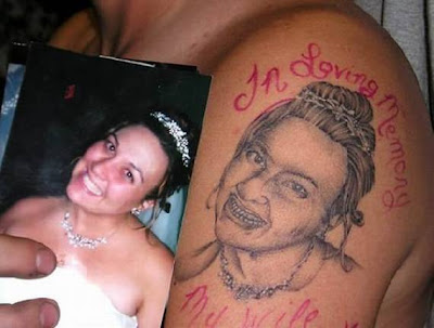 Tattoo of his wife