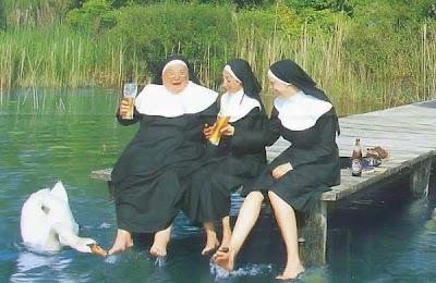 sisters drinking beer