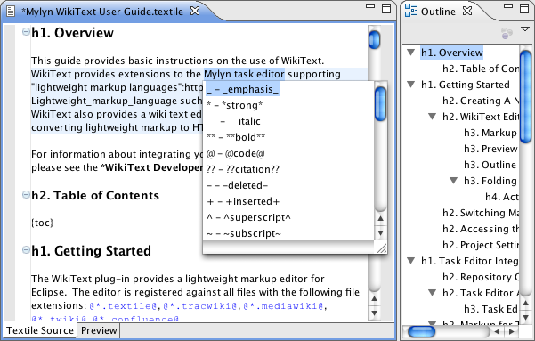 WikiText Editor
