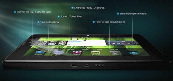 BlackBerry PlayBook tablet