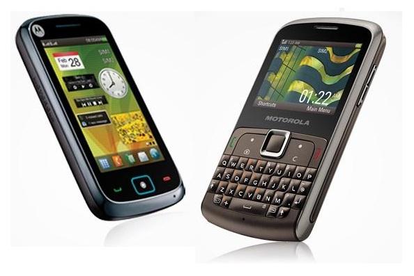 Motorola dual SIM handset Moto EX128 and Moto EX115