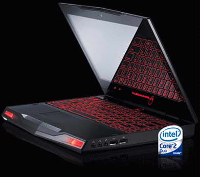 Dell Laptops Gaming on Dell Alienware M11x Gaming Laptop Size Is About 32 7 X 285 7 X 233 3