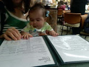 Taking daddy out for lunch... I'm doing the ordering!