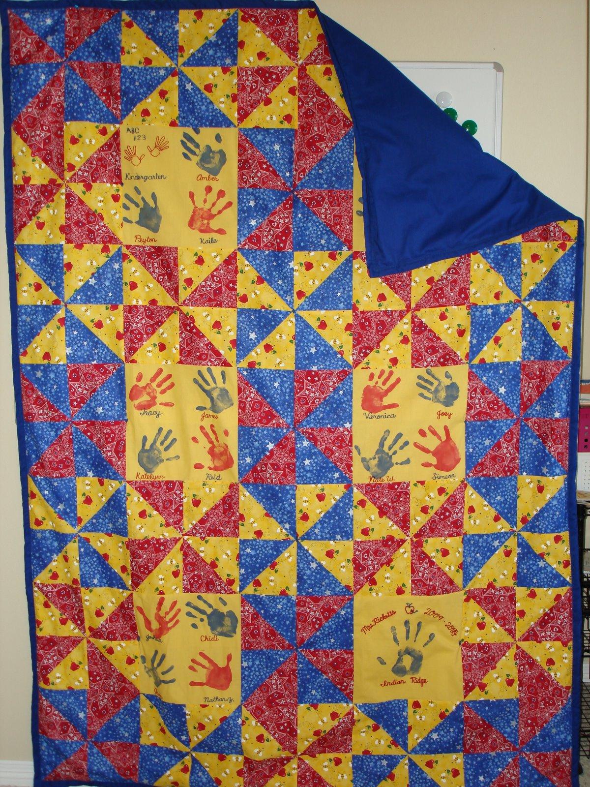 Quilt Patterns For Kindergarten : liuliubee: My 1st Attempt - Kindergarten Quilt