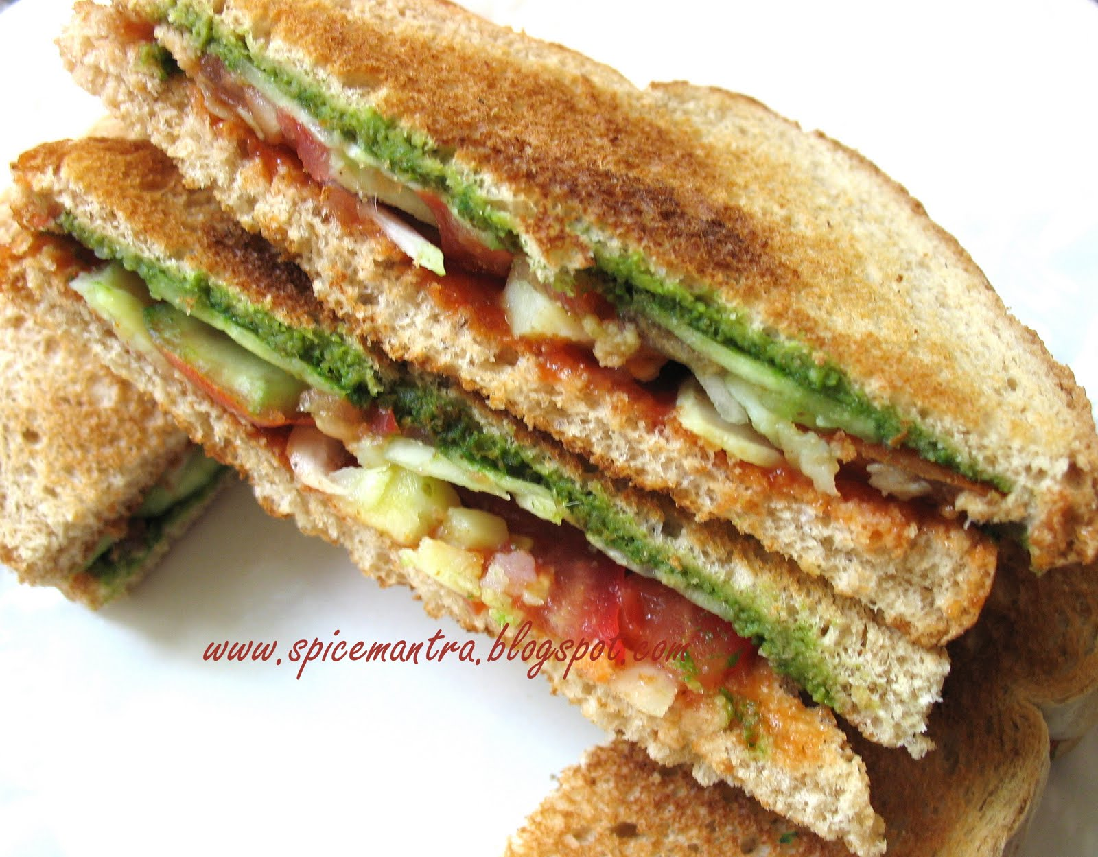 ... *: Indian version of Vegetable/ Vegan Toast Sandwich and an Award