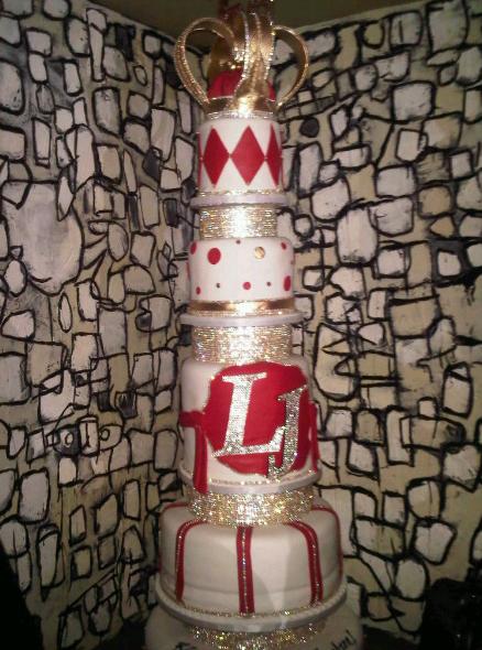 "A birthday cake befitting a King! LeBron James ""King James"" of the Miami"