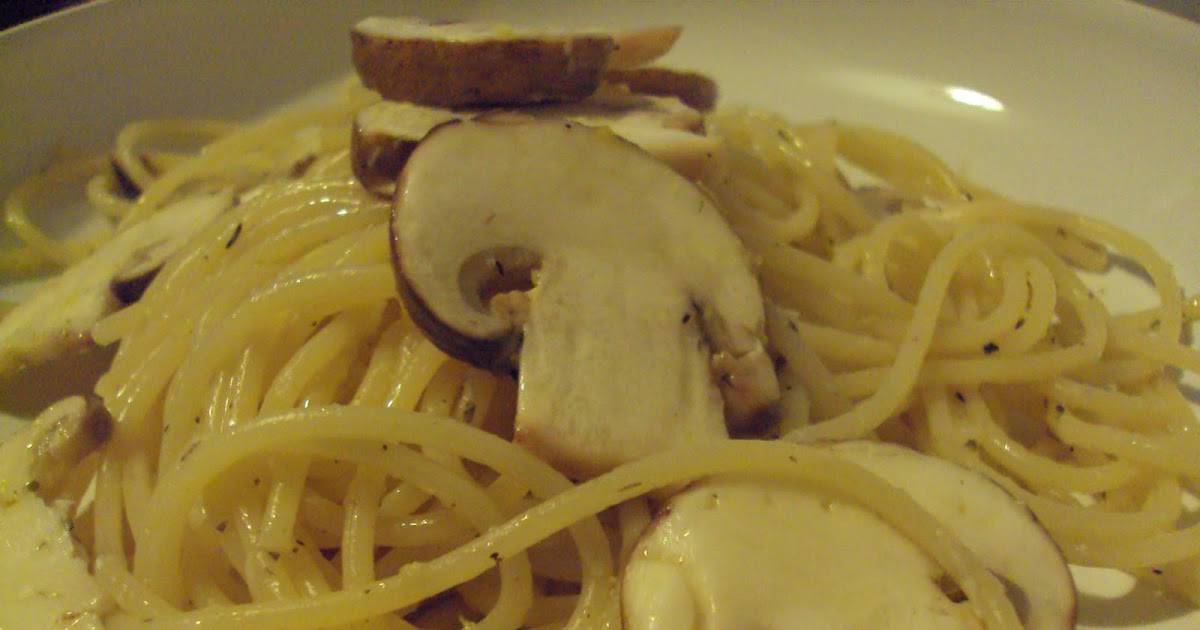 Me, My Food and I: Linguine with lemon, garlic and thyme mushrooms