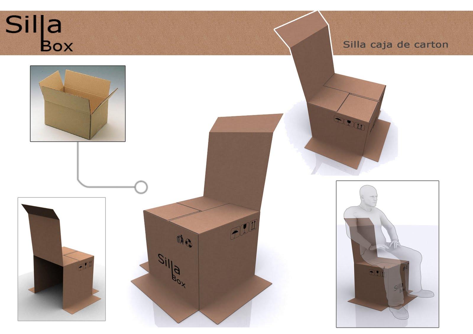 Toro design silla caja de carton for Sillas para armar y recortar
