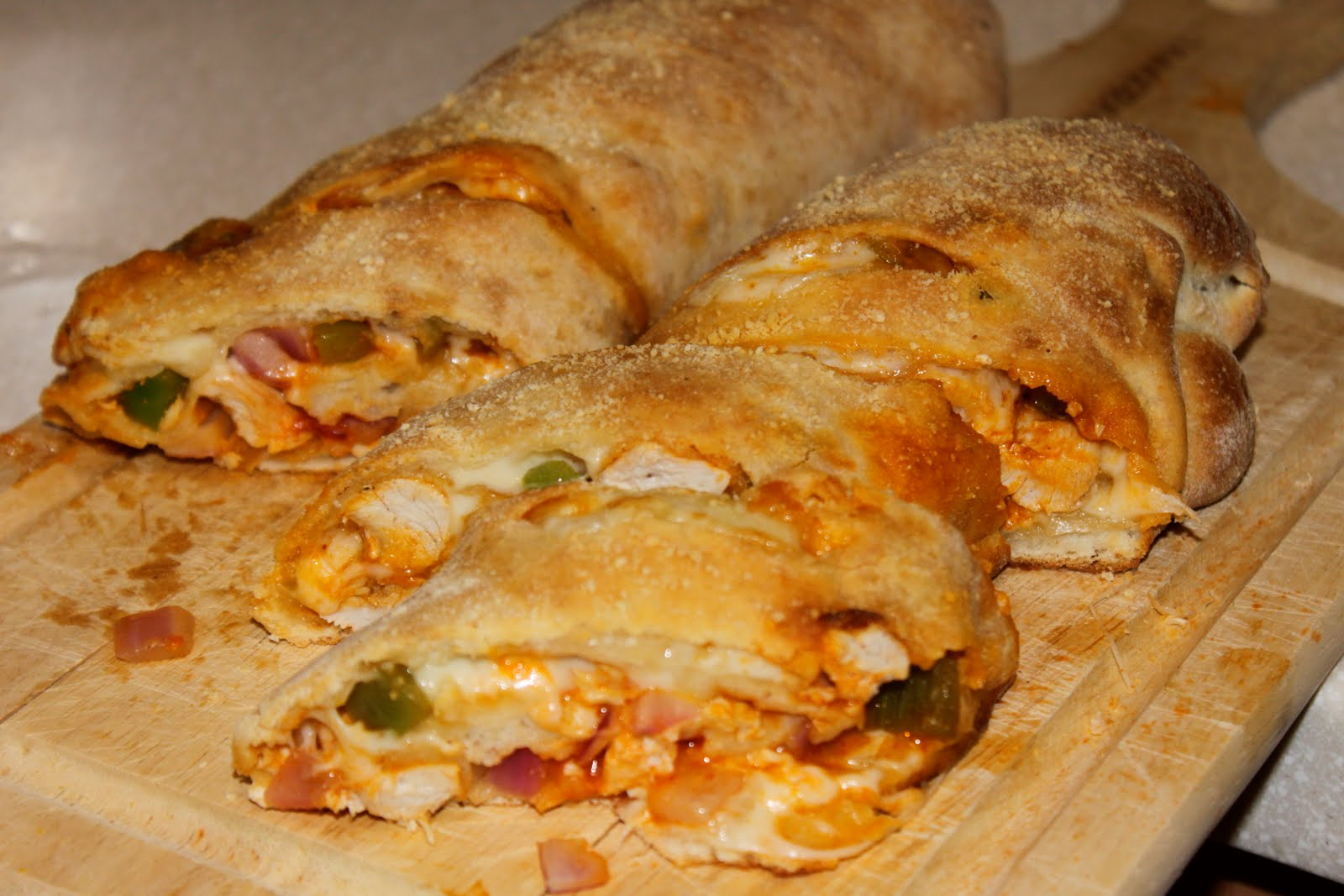 The Tempting Pepper: Buffalo Chicken Stromboli