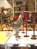 Posing with glassware at Michaels