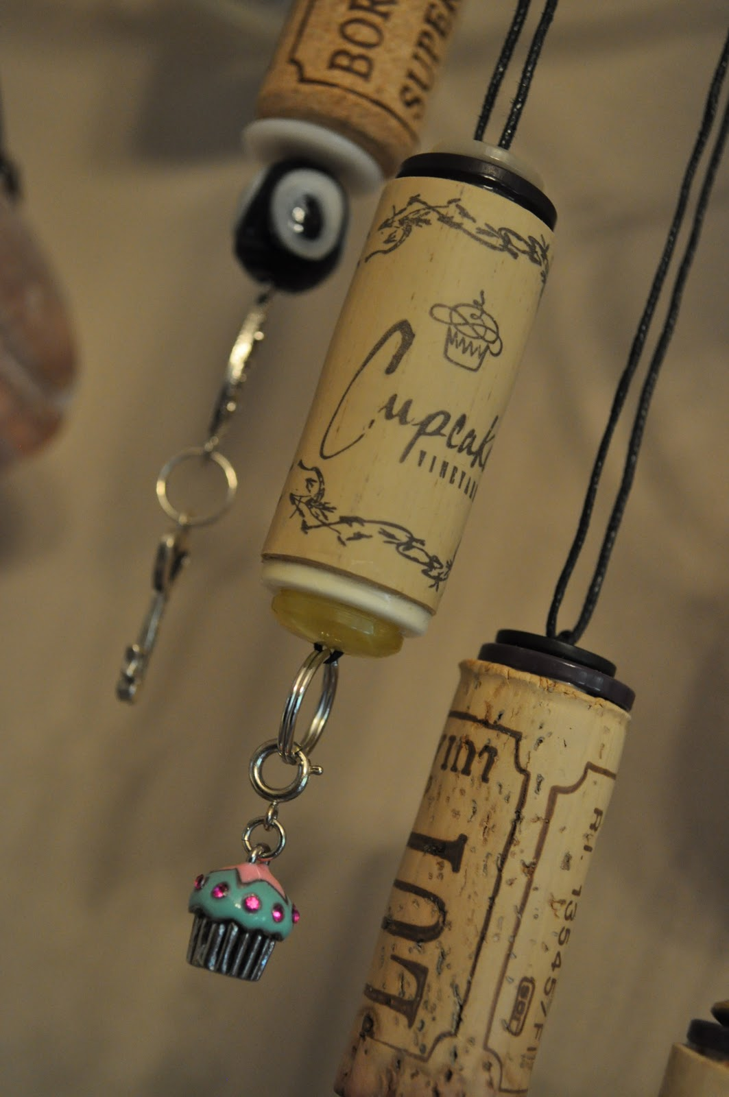 Lavender clouds wine cork ornaments for Cork craft