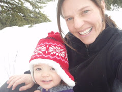Jo & mama celebrating the 1st day of spring.. sled riding!