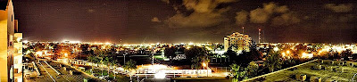 Belize city at night
