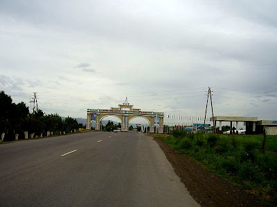 welcome arch in Kulob