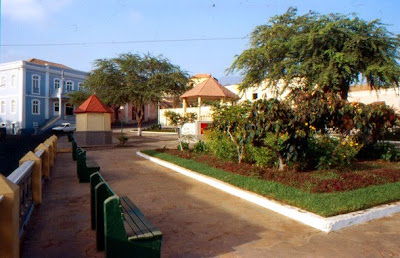 square in Sao filipe