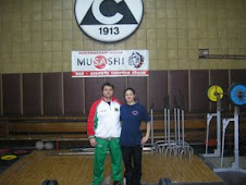 Training in Bulgaria - Gwen and Coach Zdravco Stoichov