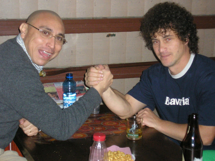 Ivan arm wrestling Peschalov