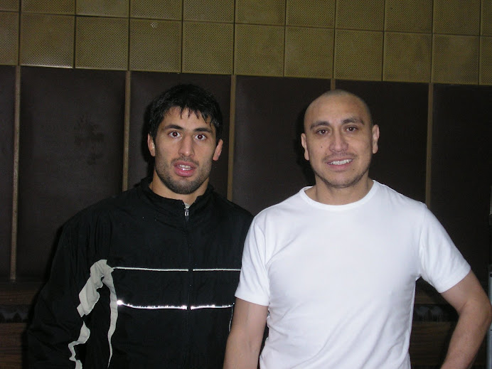 Ivan with Nikolai Gergov, Bulgarian Wrestling Champion